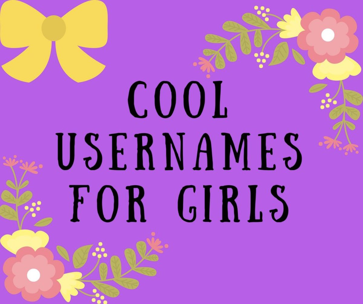 List of cool usernames for girls