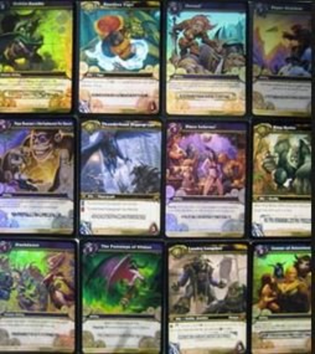 Loot cards from WoW TCG.