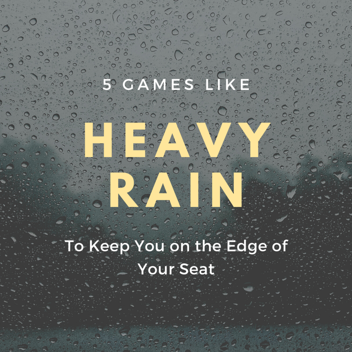 "If you liked ""Heavy Rain"", you'll love these thrillers!"
