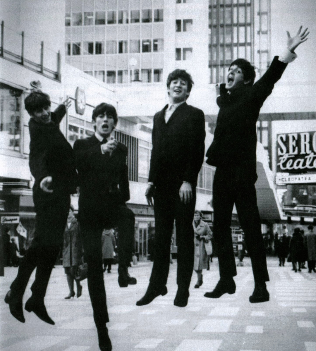 Excited Beatles Members