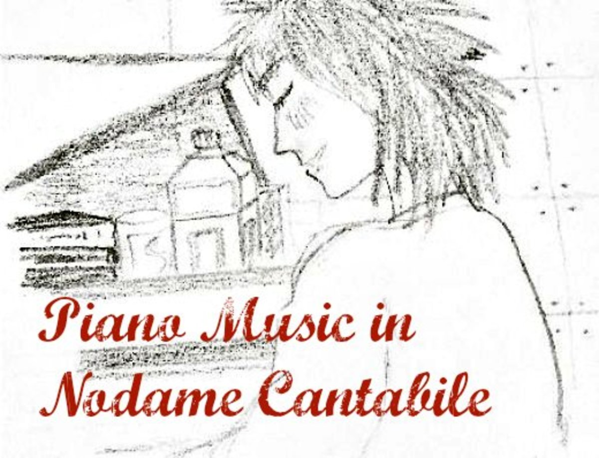 An original sketch - Nodame at her piano