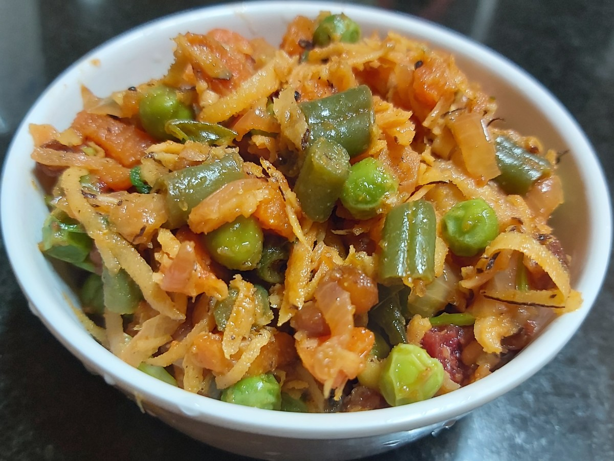 South Indian–Style Mixed Vegetable Dry Curry