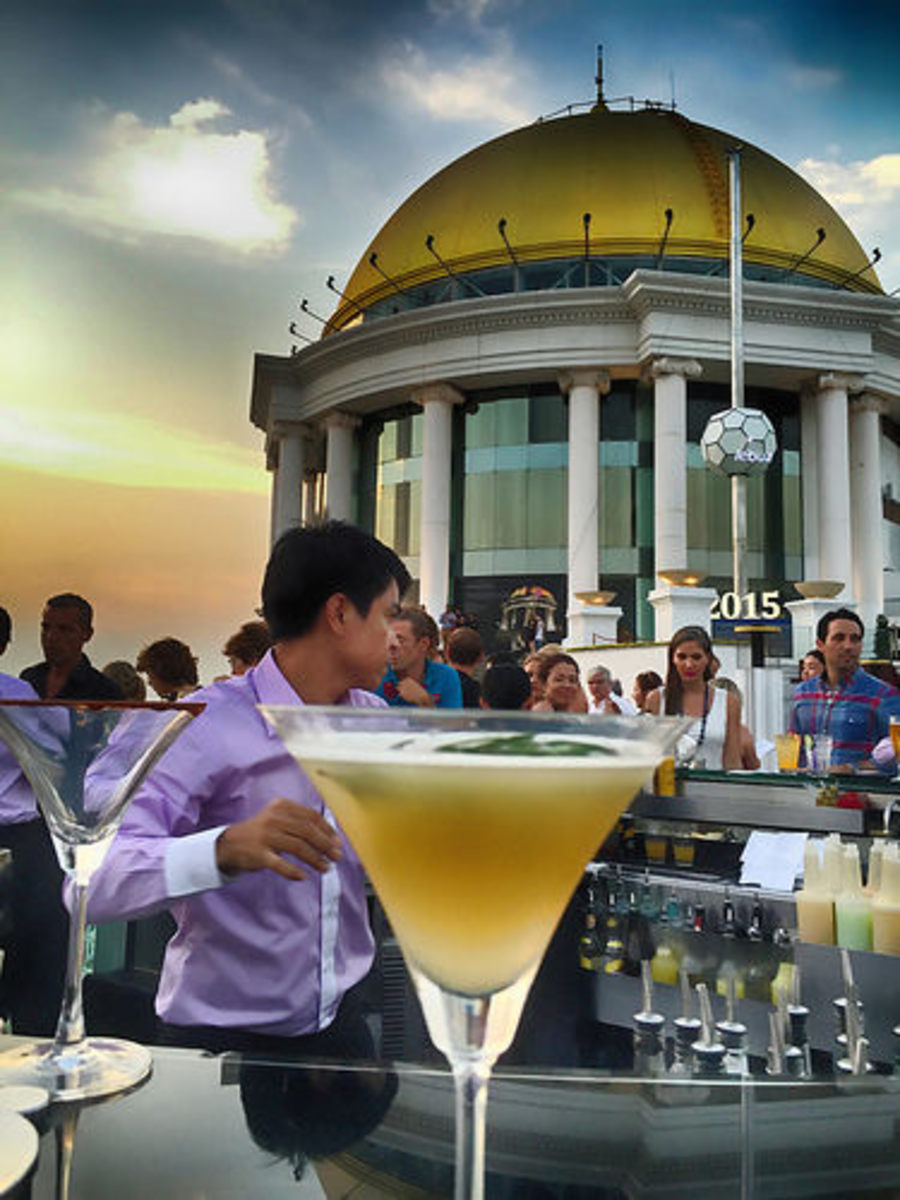 The Sky Bar at the Dome restaurant. If you have to ask the price, you can't afford it.