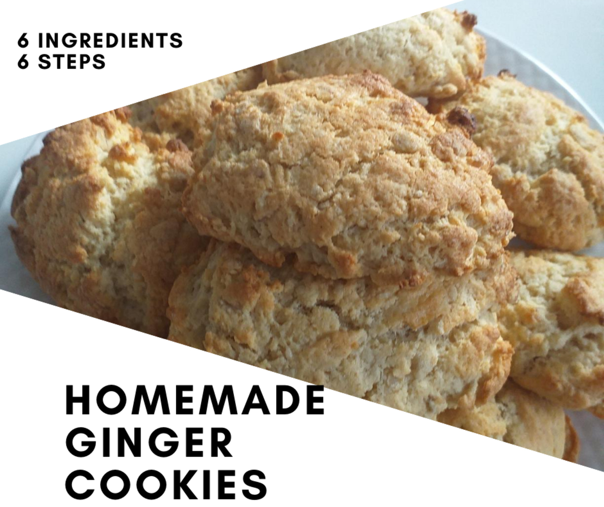 Simple Homemade Ginger Cookies With Six Ingredients