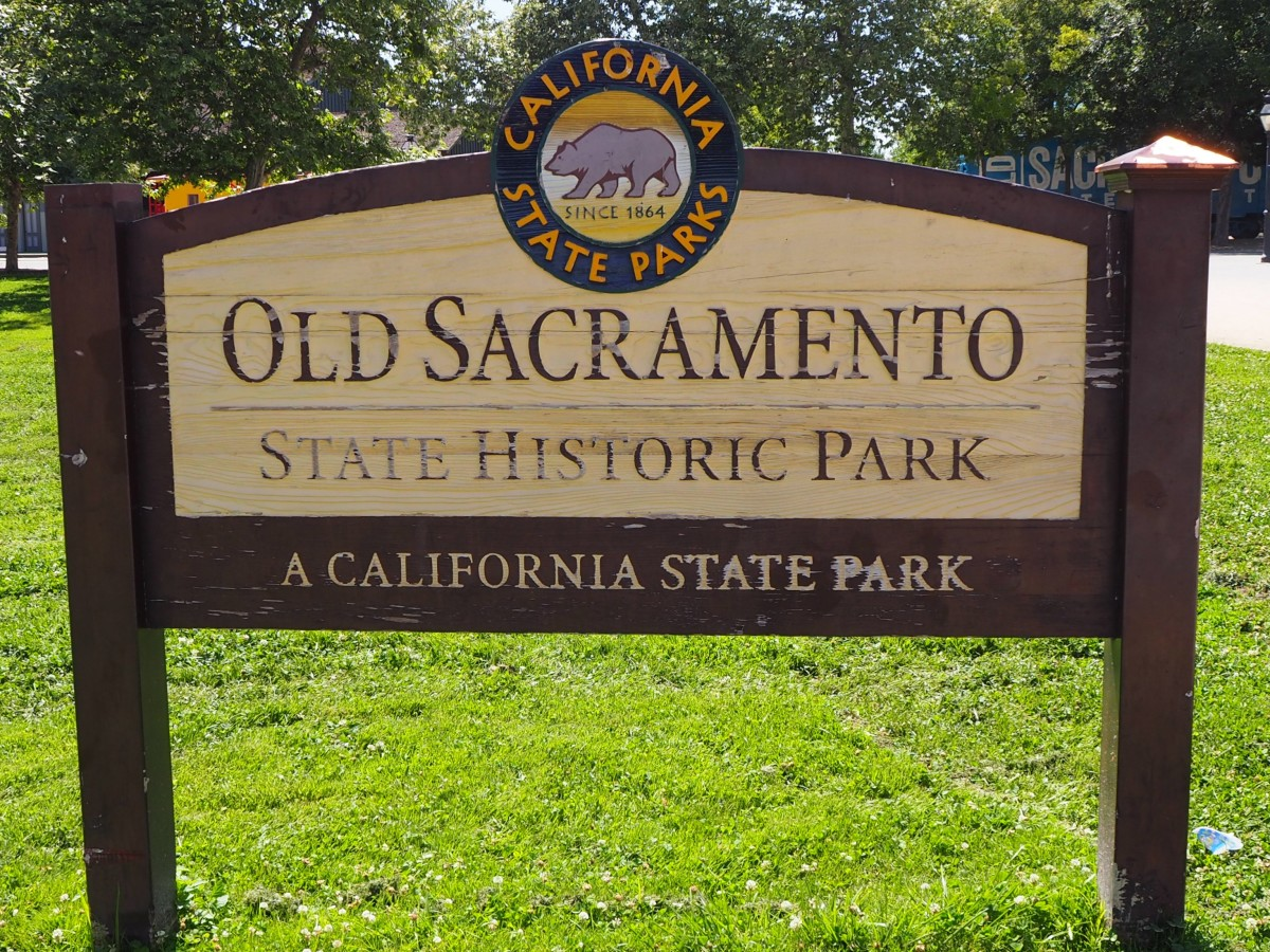 The Sign Welcoming You to Old Sacramento