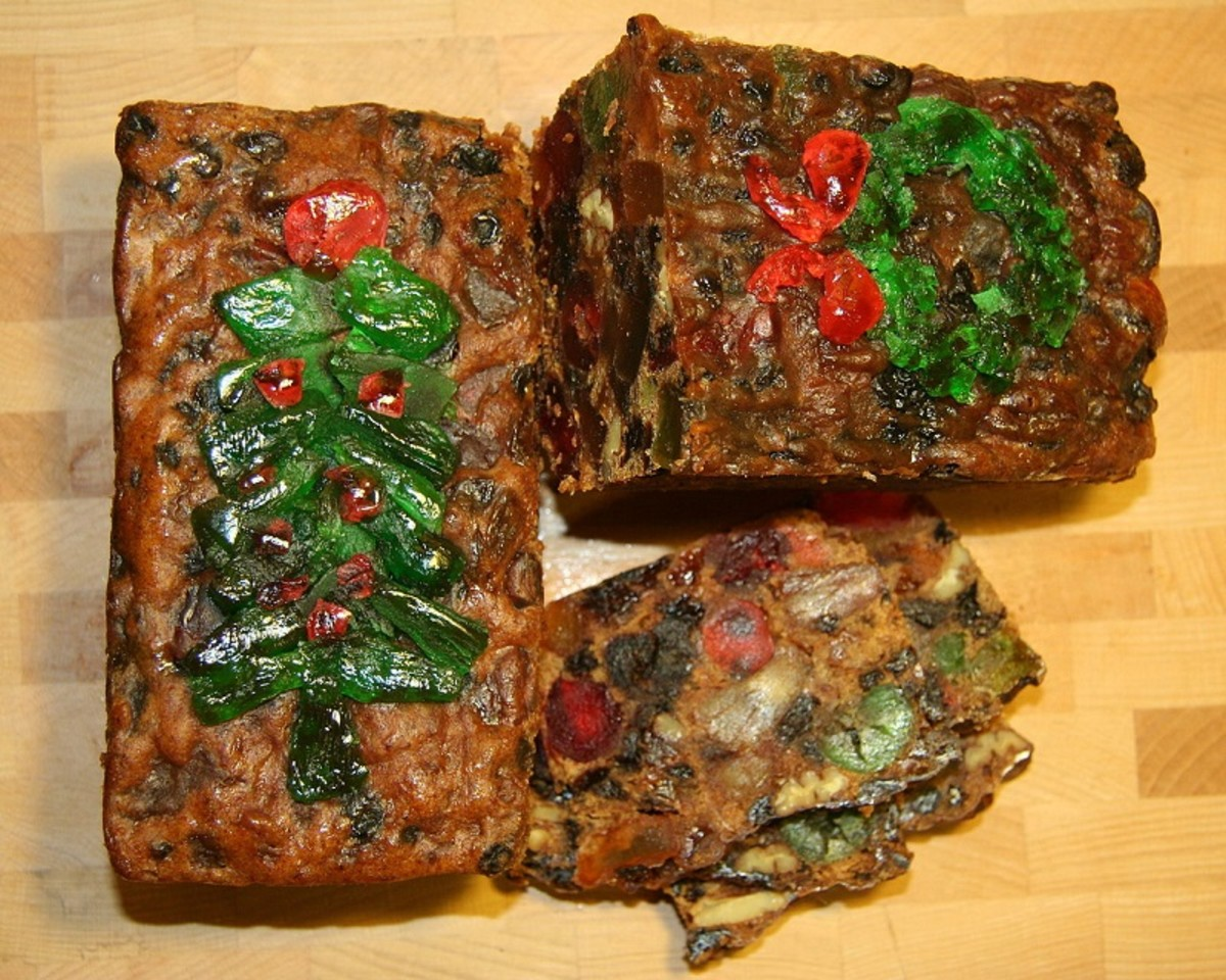 Homemade moist fruitcake takes center stage at Christmas.
