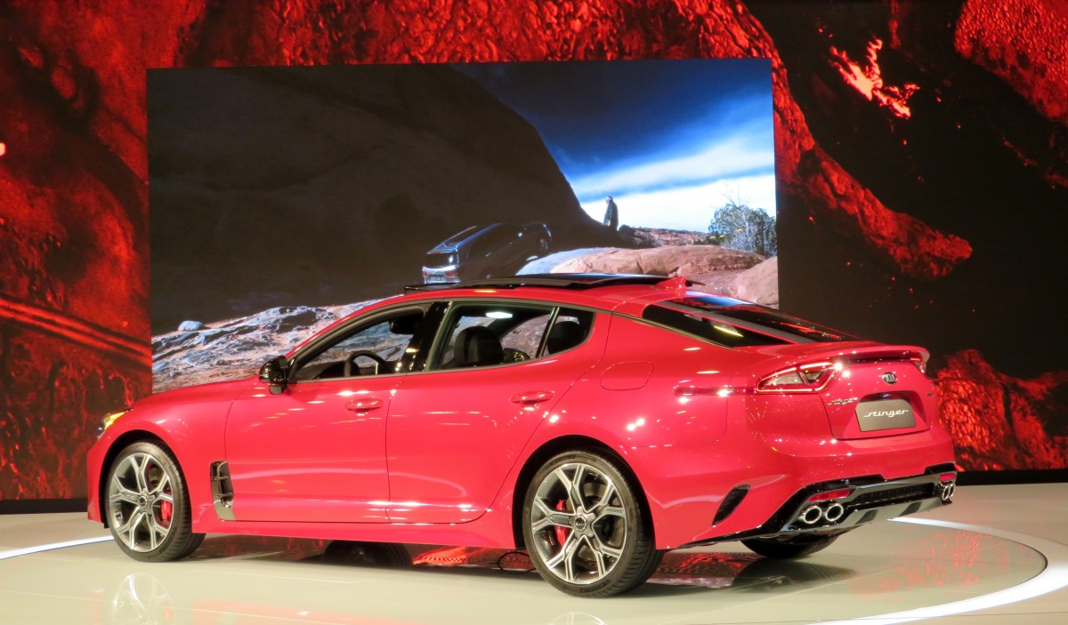 KIA Stinger on display