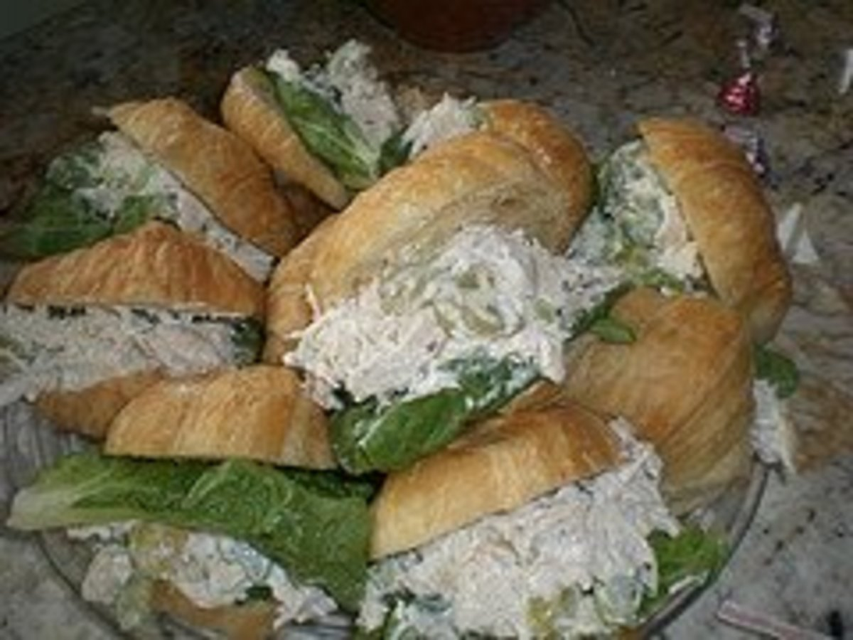 Chicken salad sandwiches.