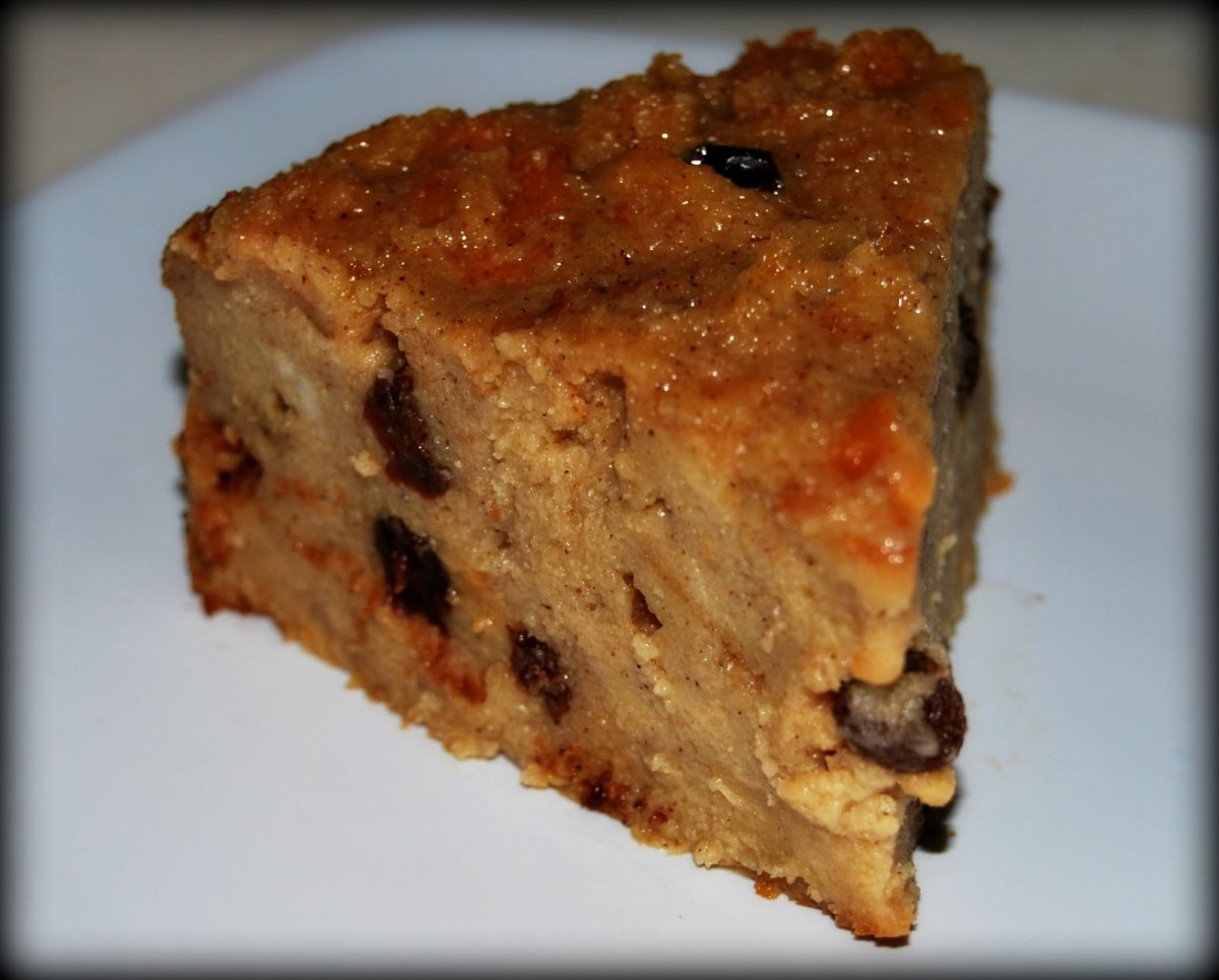 Traditional Puerto Rican Budin