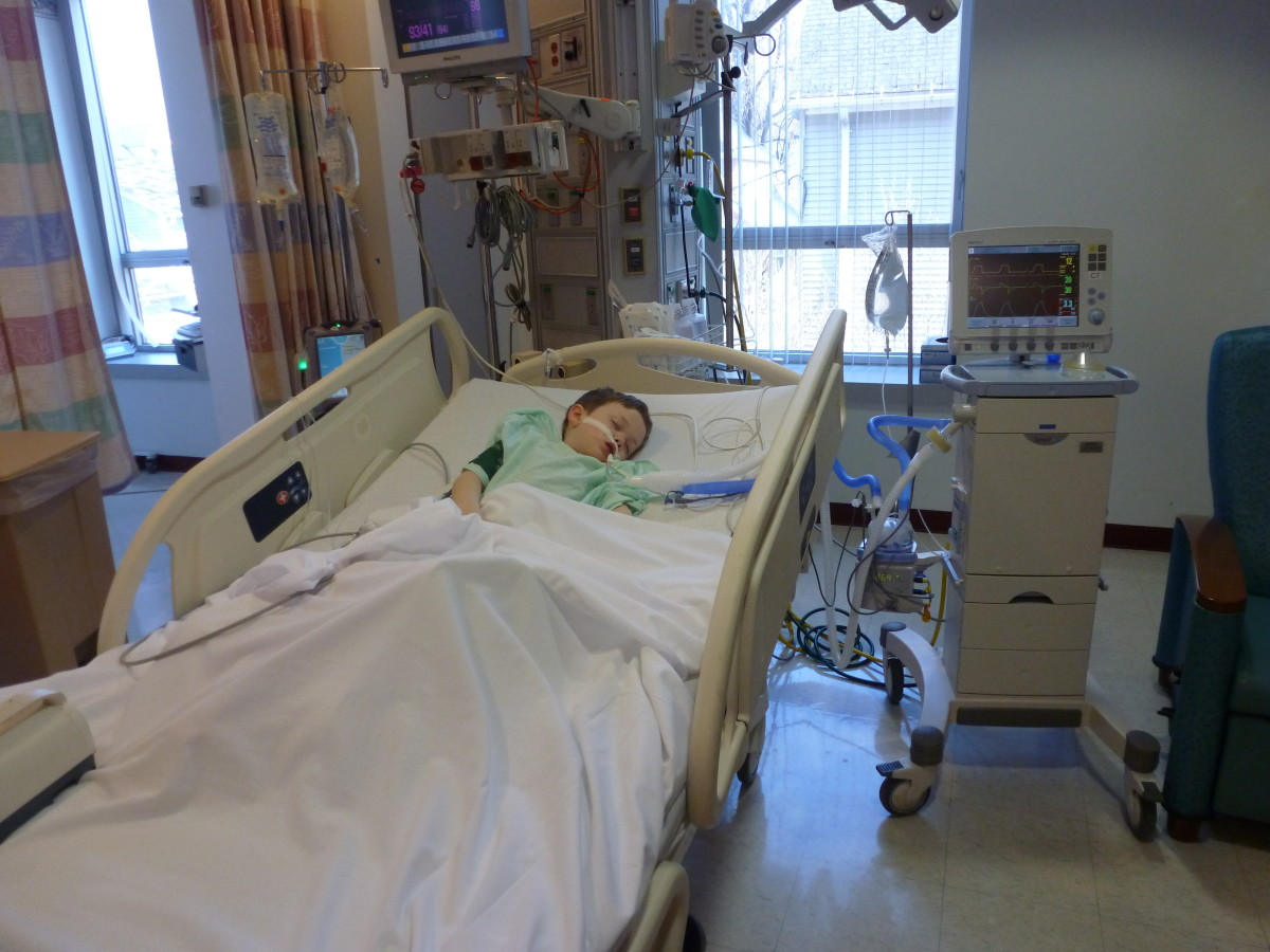 The author's son recovers from his second supraglottoplasty and epiglottopexy surgery.