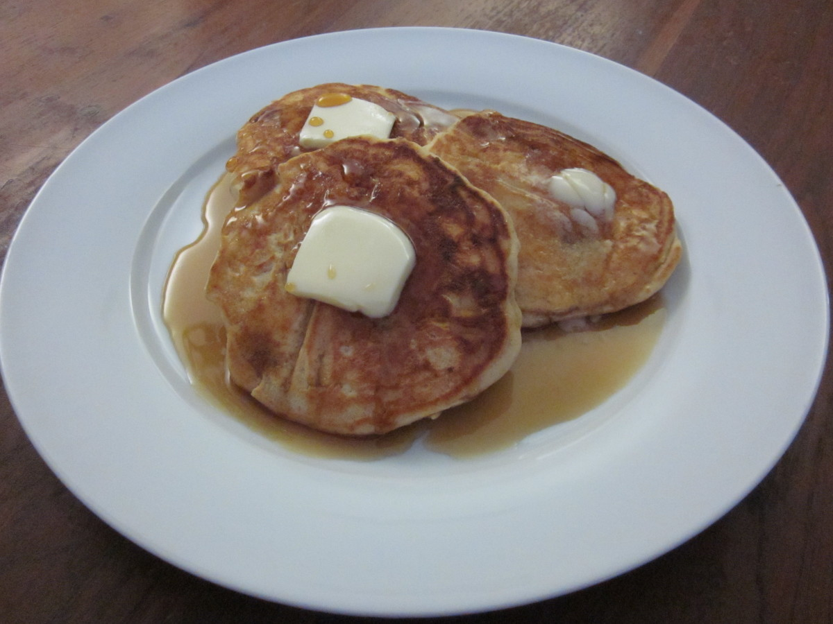 Apple and Oat Pancakes make a delicious weekend breakfast treat.