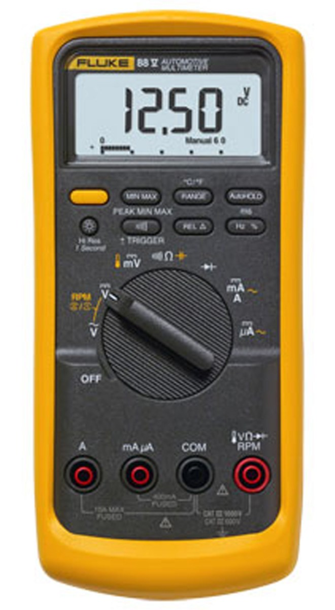 A high-quality, reliable, and essentially highly priced digital multimeter from a popular brand, Fluke.