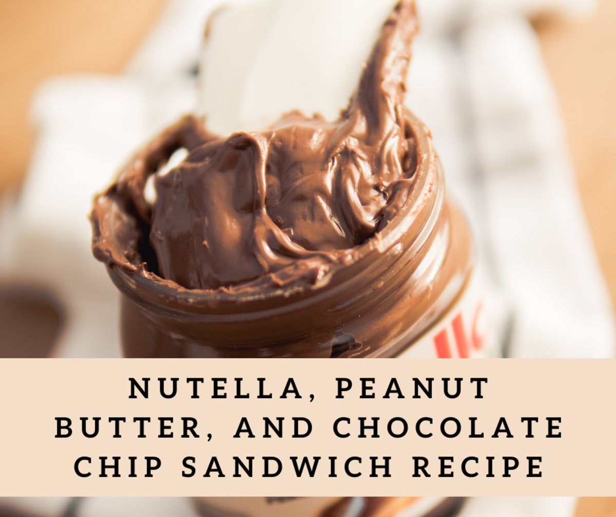 Nutella, peanut butter, and chocolate chip sandwiches are a great for the whole family.
