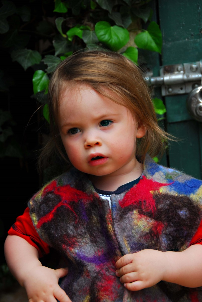 How to Make a Wet Felted Gilet for a Child