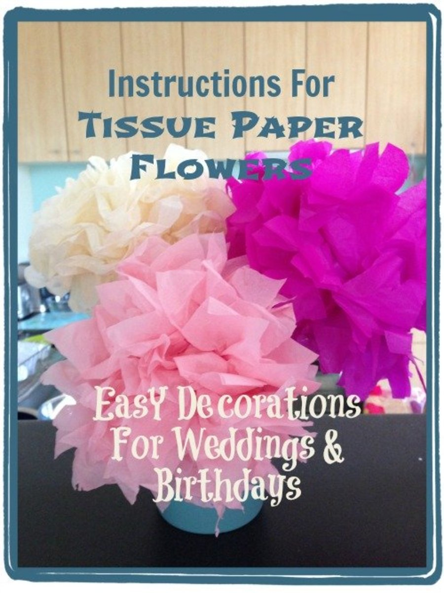 How to make tissue paper flowers for decoration feltmagnet instructions for tissue paper flowers easy decorations for weddings and birthdays mightylinksfo