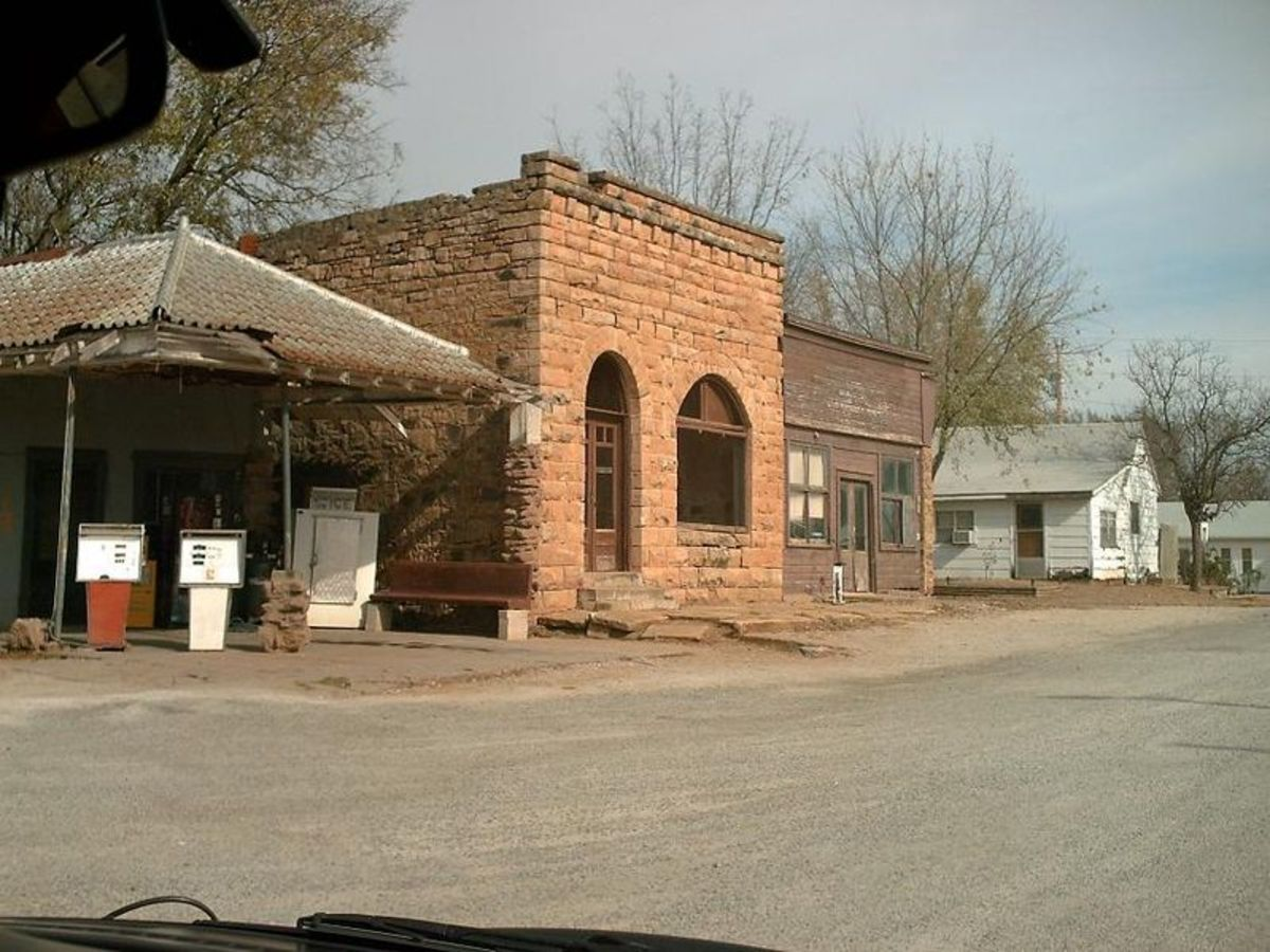 Some day all our towns and cities will resemble abandoned settlements like the one featured here (Blackburn, Oklahoma)