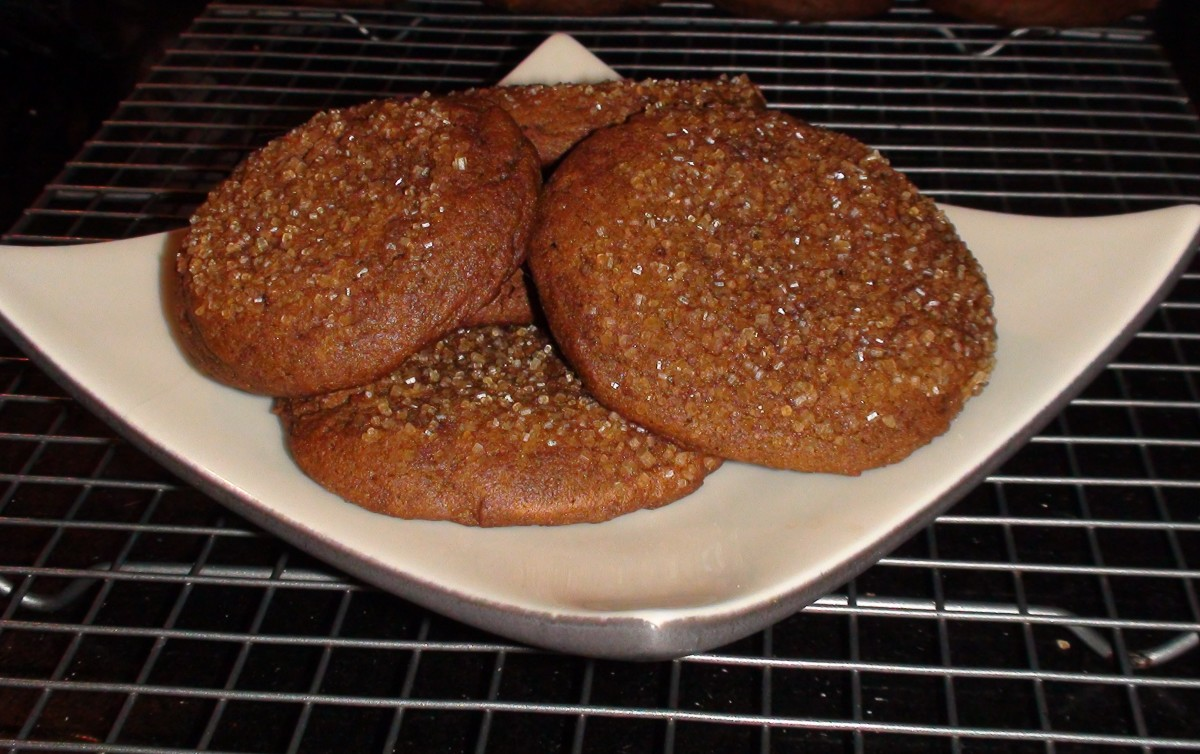 Coconut Oil Ginger Molasses Cookies