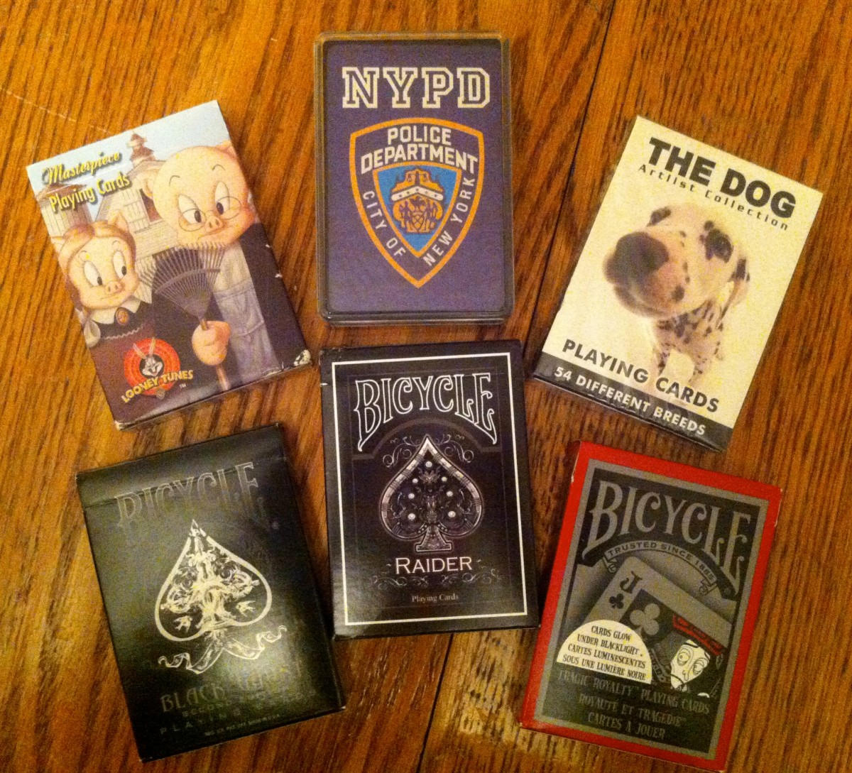 A sampling of some of the decks of cards in my collection.