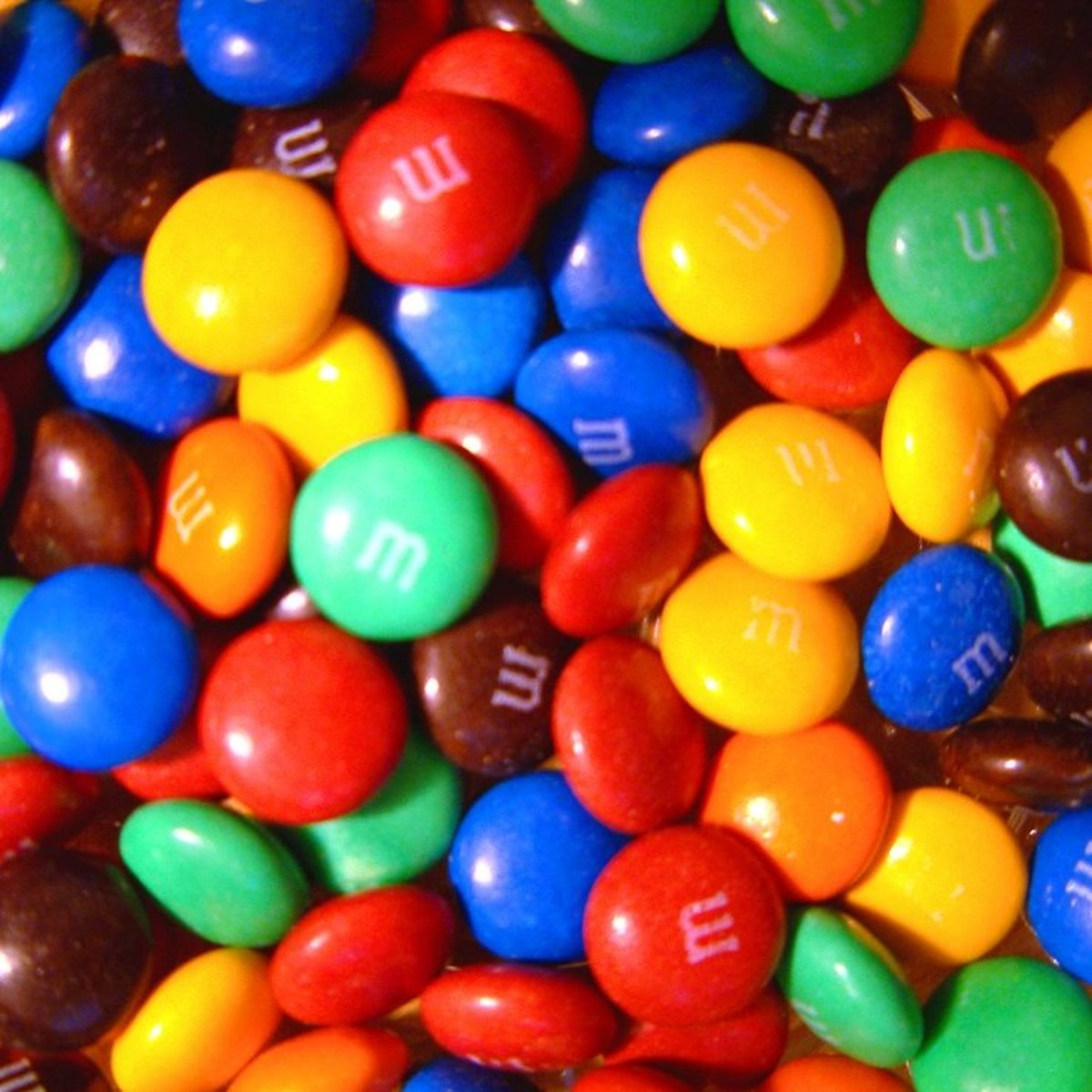 A delicious pile of M&M's.