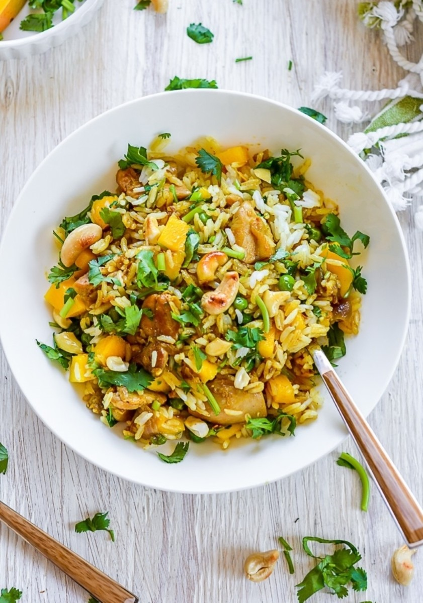 Gluten-Free Brown Rice Salad With Turkey and Mango