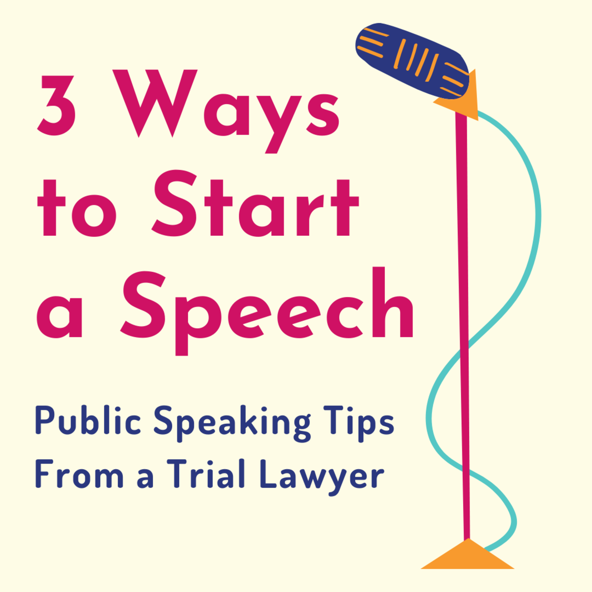 These are three of the best ways to begin (and a warning about how you shouldn't open your speech).