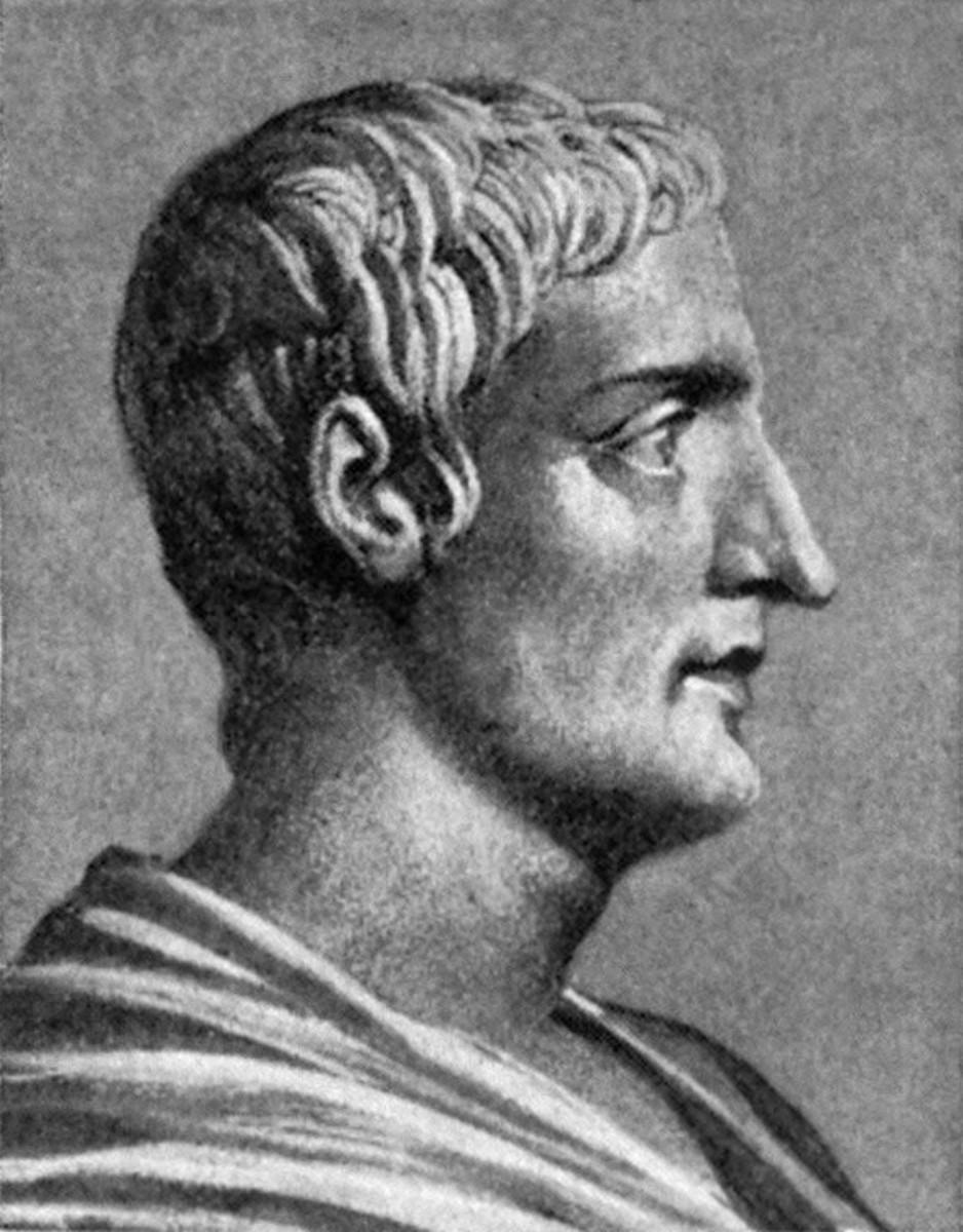 A portrait of the famous Roman historian, Gaius Cornelius Tacitus.