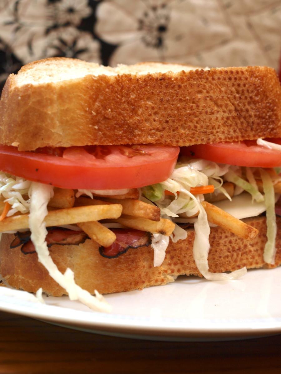 Pittsburgh Style Sandwich...Yum!