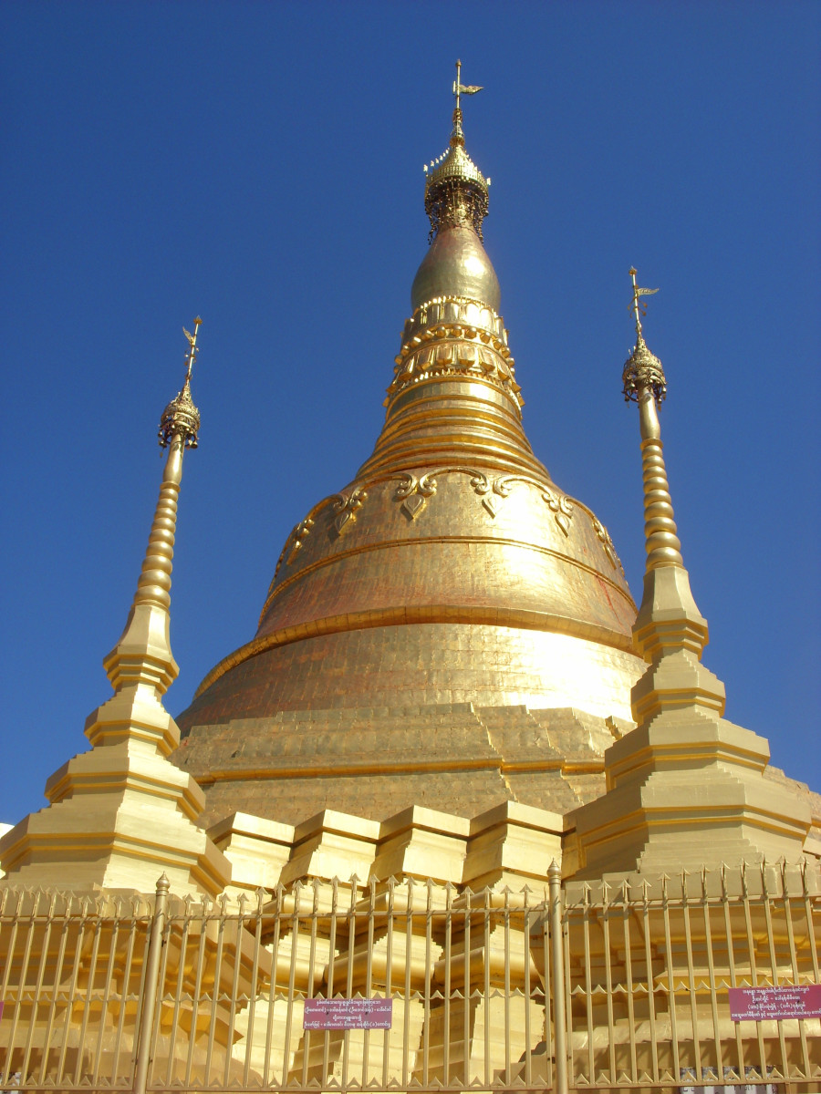 Burmese Pagoda - can be used to symbolise Buddhism, religion, spirituality, travel, the Far East, etc.