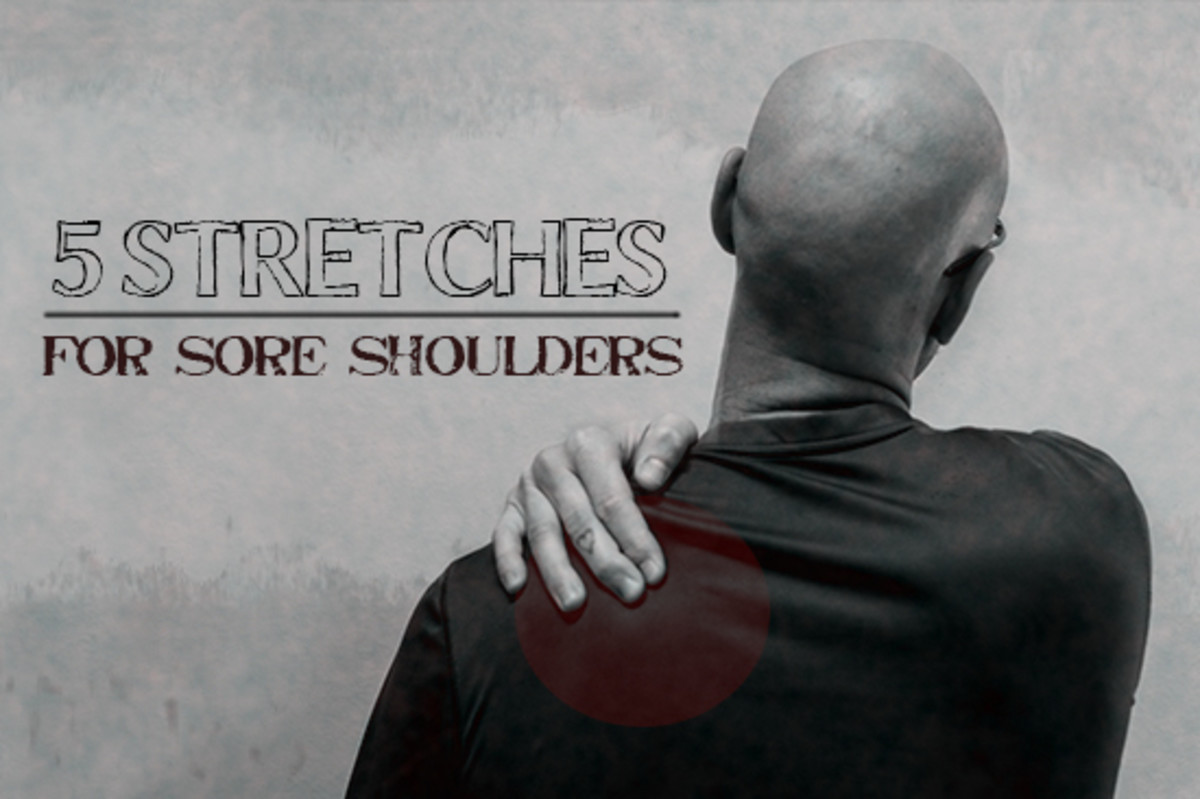 Five stretches for sore shoulders