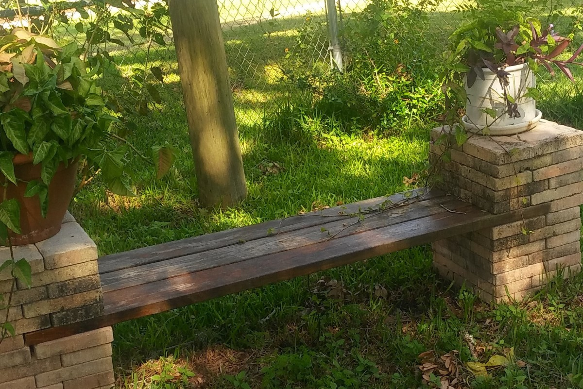 Make a DIY Stone and Wood Bench Quickly and Easily