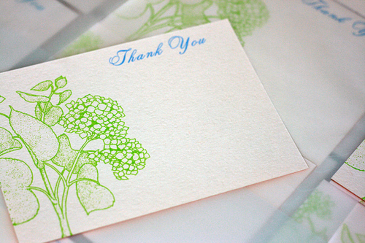 A thank you card should be handwritten.