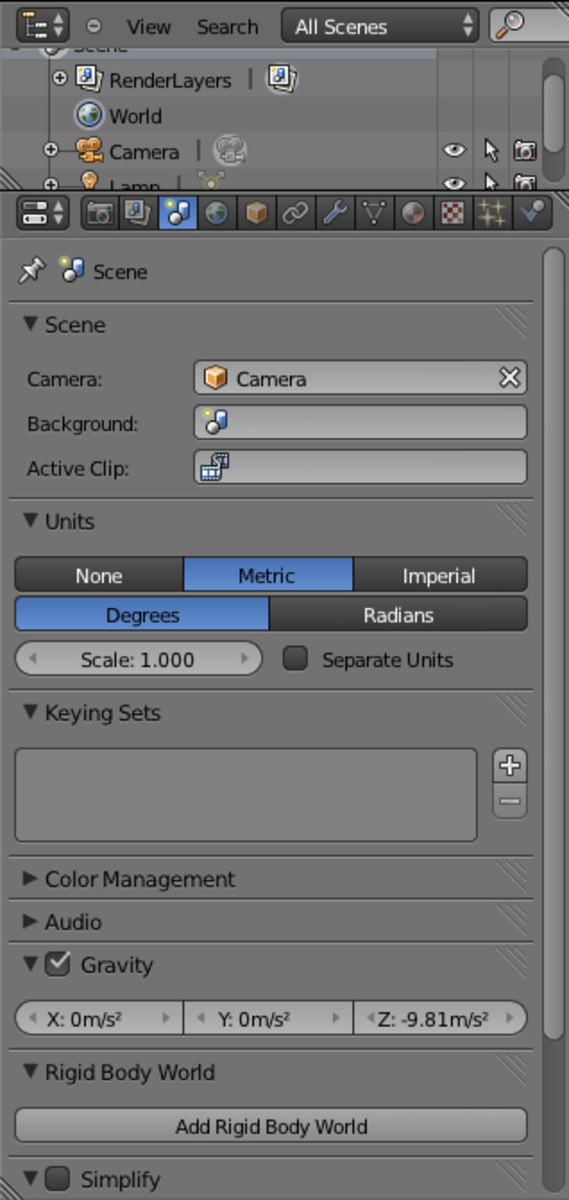 Setting up the dimensions in Blender.