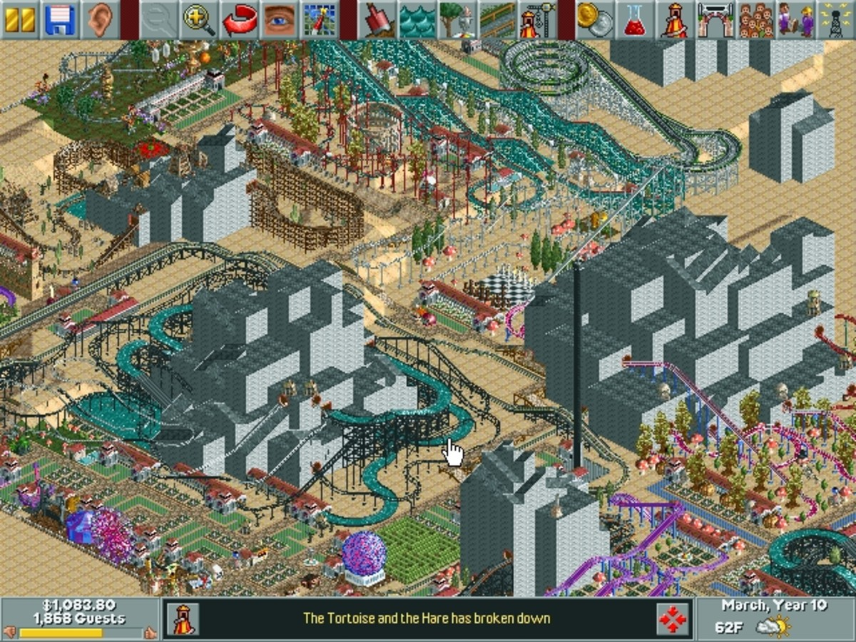 "Learn what strategies to use in the Razor Rocks map for ""Roller Coaster Tycoon."""