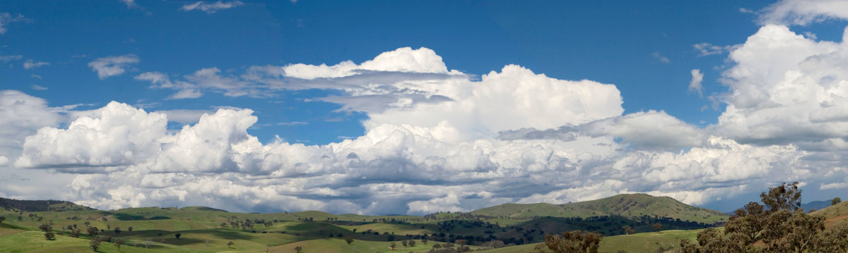 Cumulus clouds over Swifts Creek, Australia. A truly beautiful image.