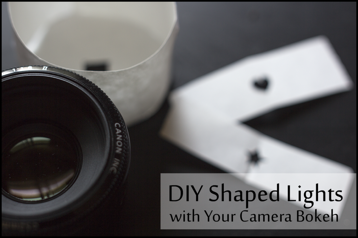 Create a changeable lens tube that changes the shape of your camera's bokeh.