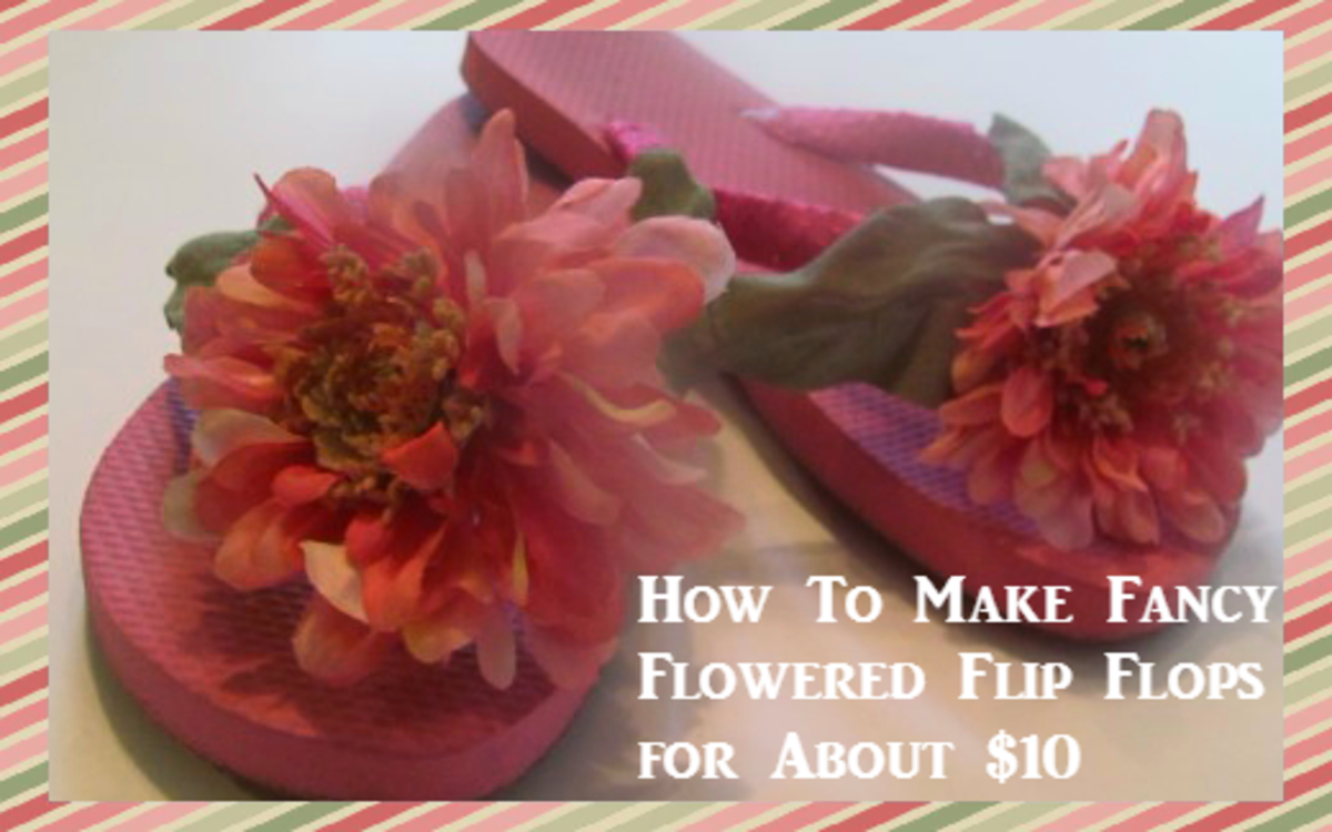 How To Make Fancy Flowered Flip Flops for About $10