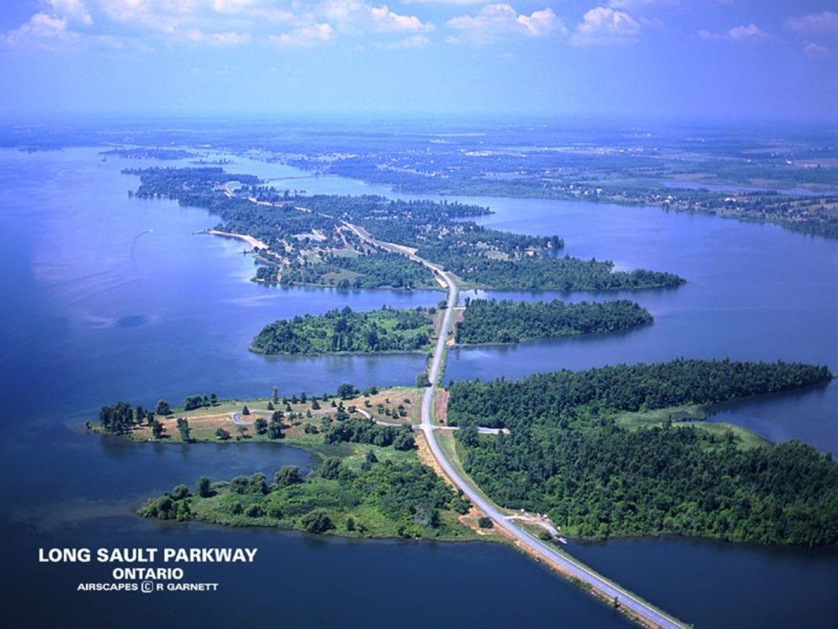 Aerial view of the Parkway.