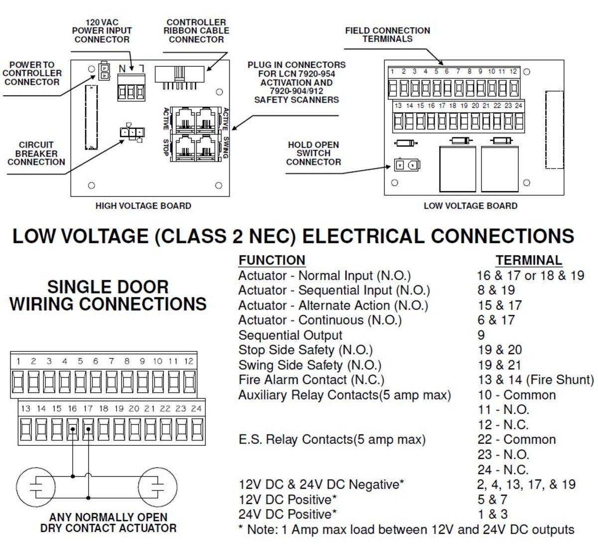 Excerpted from LCN 4630/4630 series installation instructions.