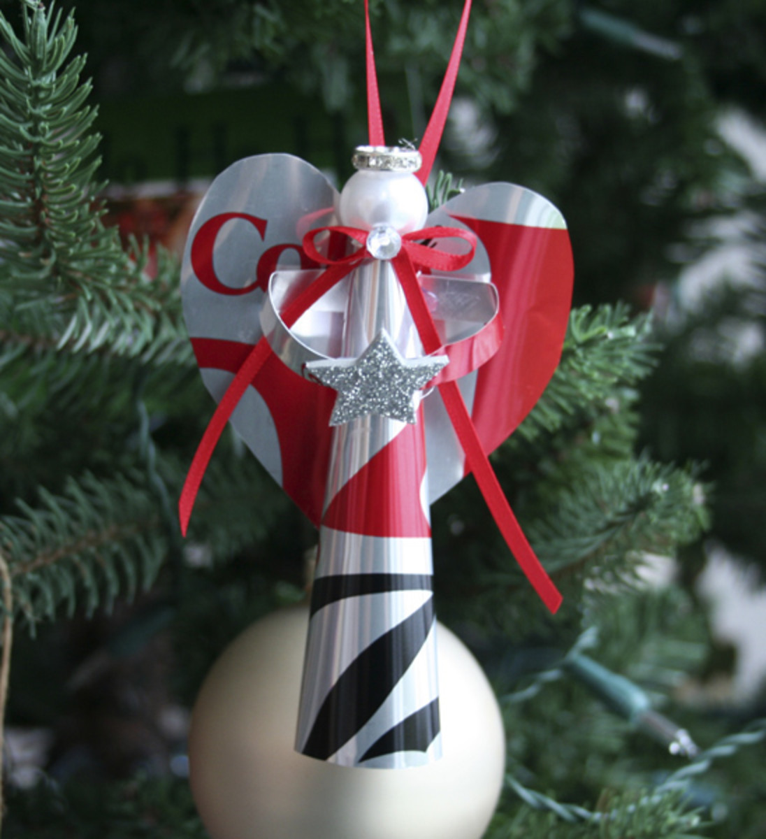 How to Make Recycled Handmade Angel Christmas Ornaments