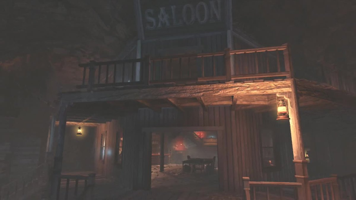The Saloon is located in the Town Area.