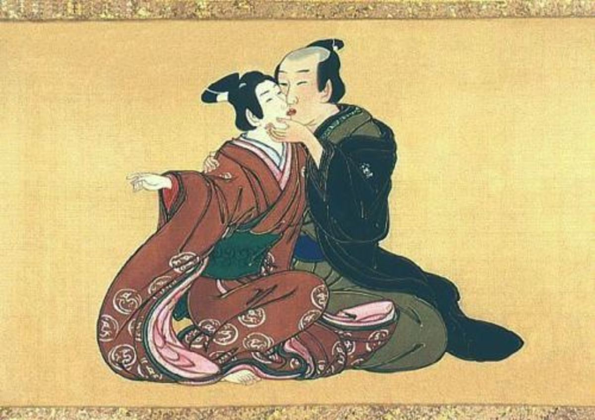 Man and [Male] Youth, Miyagawa Isshō.