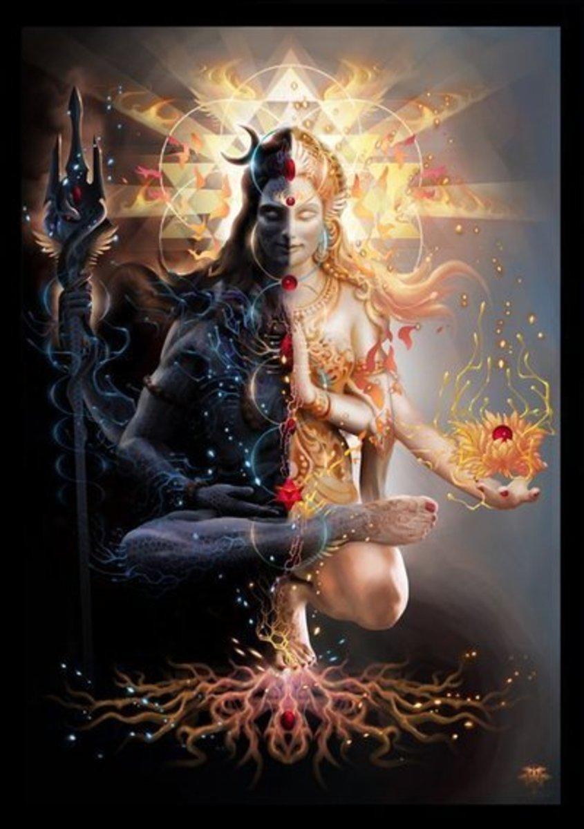 A visual representation of Brahman and shakti