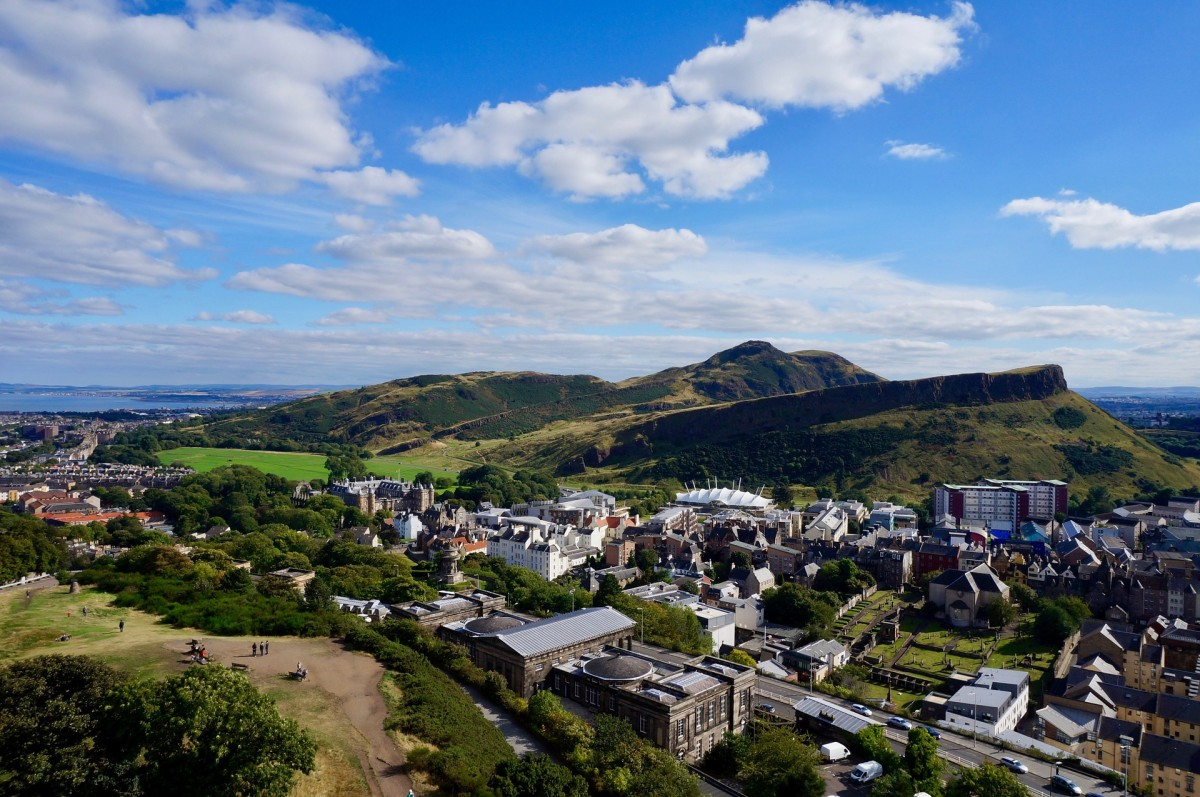 Arthurs Seat as seen from Calton Hill.