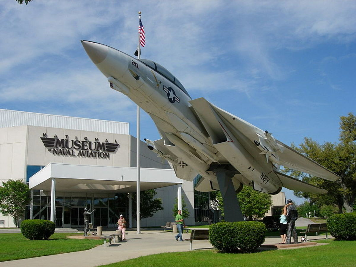 Entrance to the National Naval Aviation Museum