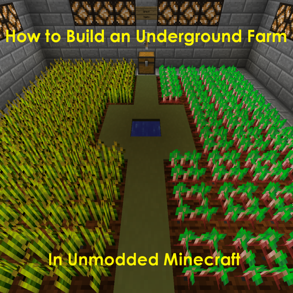 How To Build An Underground Farm In Minecraft Levelskip Video Games
