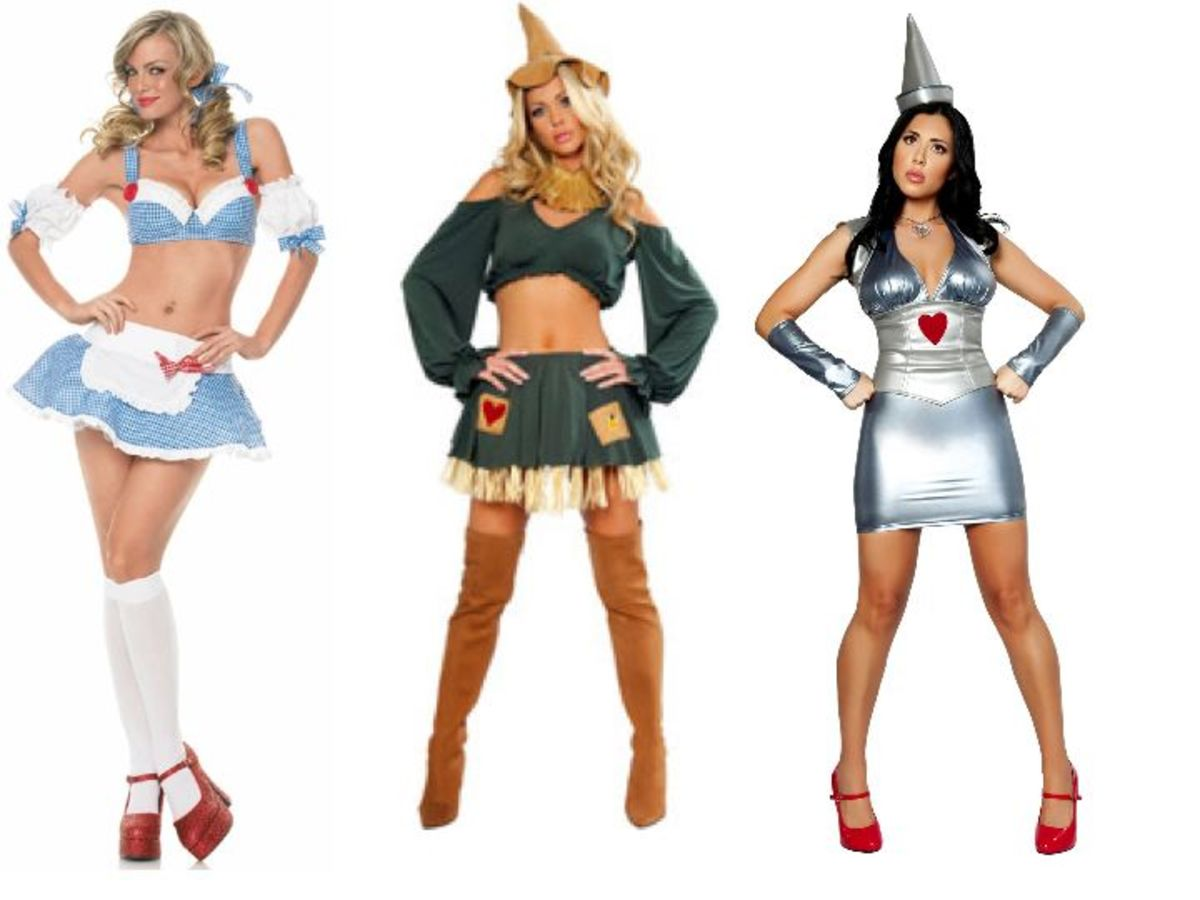 Men's vs. Women's Wizard Of Oz Halloween Costumes