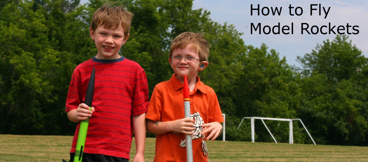 Flying model rockets is a fun activity for the entire family.