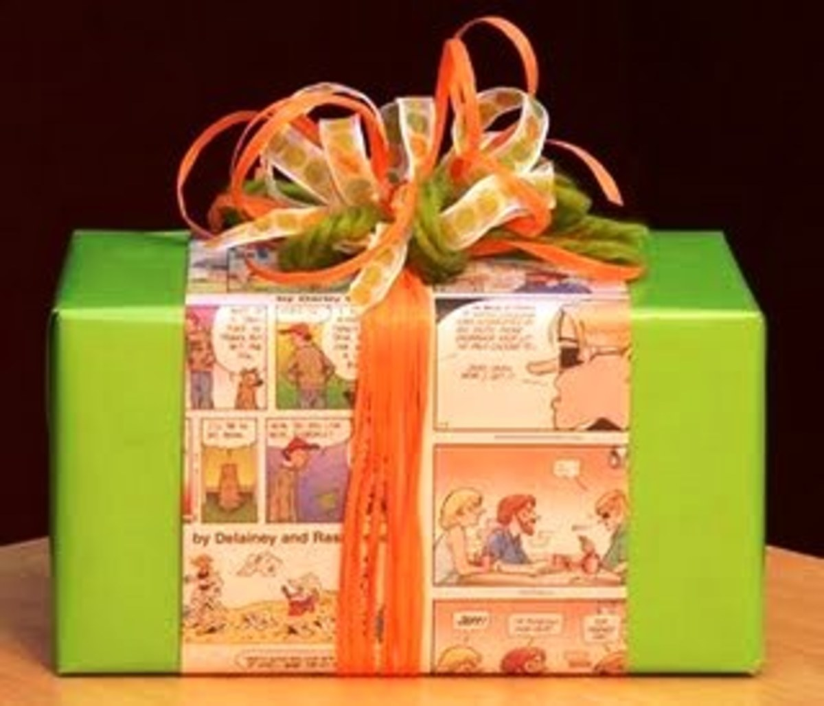 For quick creative ideas for gift wrapping, you could quickly wrap a piece of the recipient's favorite comic book around the present. This is great for nearly any comic book character enthusiast!