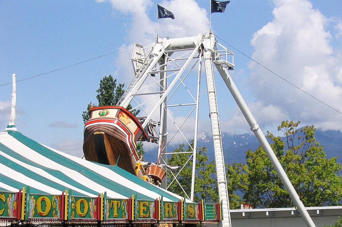 This is the Pirate ride at the Playland amusement park. Playland is always part of the fair at the PNE.