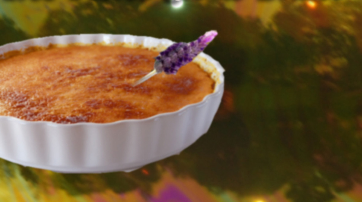 Lavender Saffron Crème Brûlée